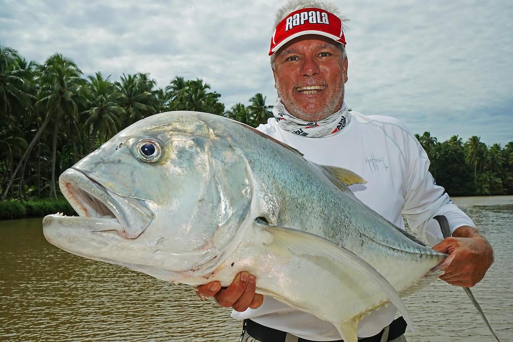 GT in River - Baia Sportfishing PNG