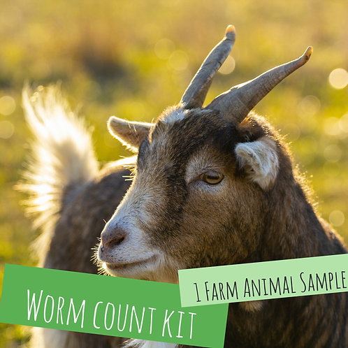Worm Count Kit For 1 Farm Animal