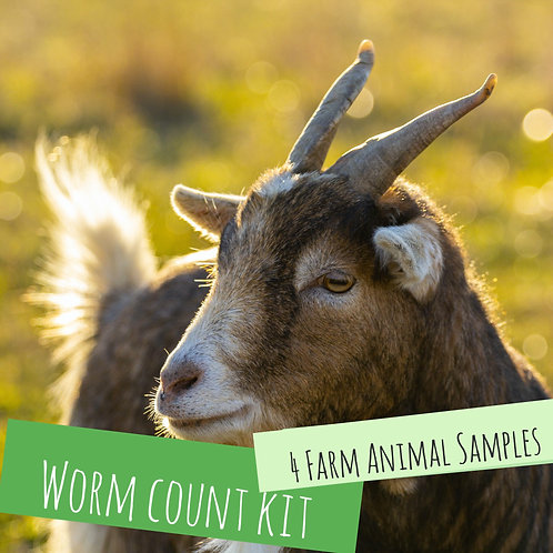 Worm Count Kit For 4 Farm Animals