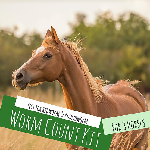 Worm Count Kit For 3 Horses