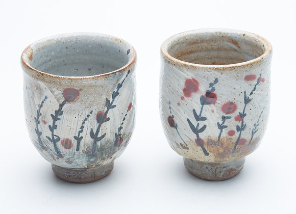 Decorated footed cups