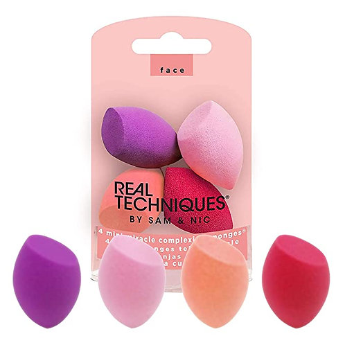 Real Techniques - Juego de 4 esponjas de belleza para maquillaje