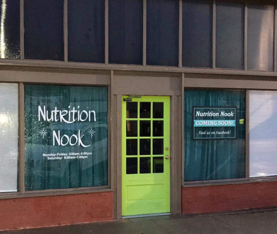 Nutrition Nook - Window Vinyl