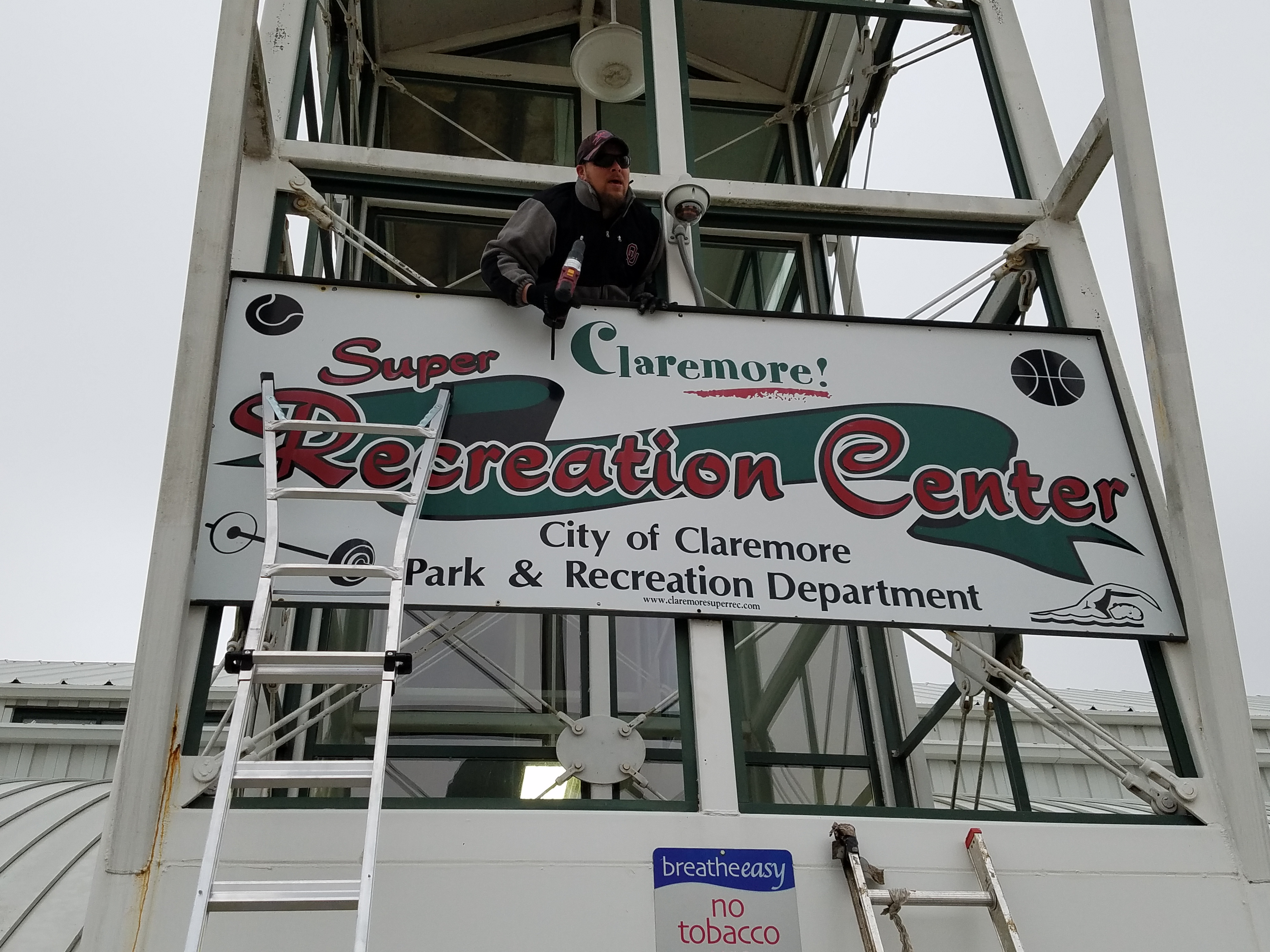Community Recreation Center Signage