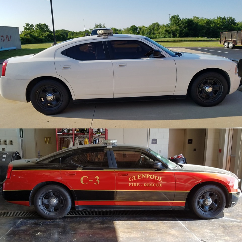 Vehicle Wrap - Before and After