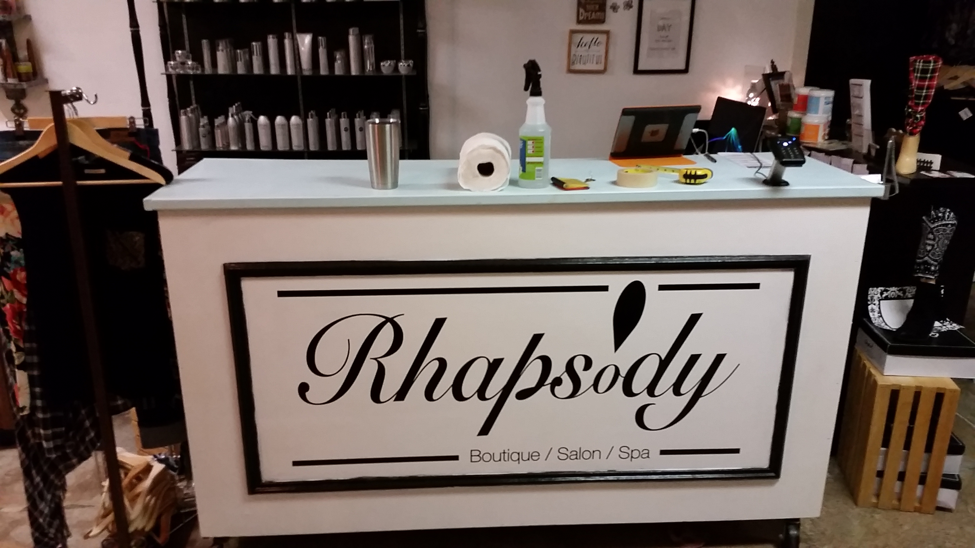 Salon Front Desk Vinyl Decal
