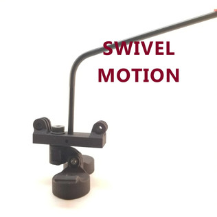 The swivel action happens on a steel shoulder bolt and oil embedded bushing meaning no wearing of plastic parts.