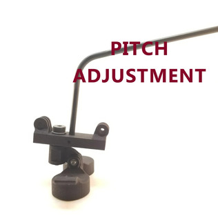 Pitch is easily adjusted to keep the swiveling action level to the ground.