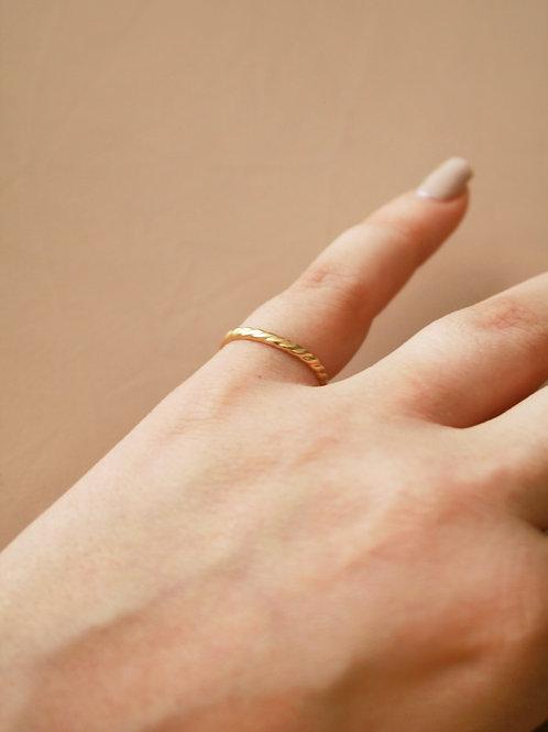 טבעת אוקנוס ציפוי זהב מיקרון