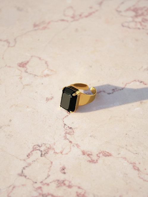 טבעת סברובסקי שחורה אריאל