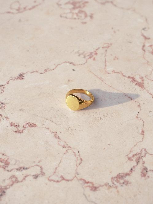 טבעת חותם עגולה אריאל