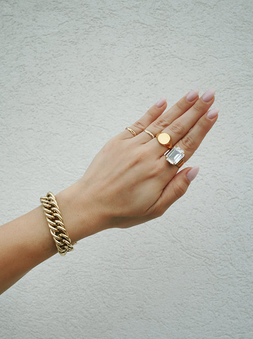 טבעת סברובסקי שקופה אריאל
