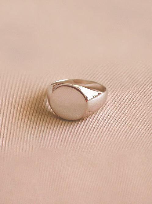 טבעת פאי כסף סטרלינג 925