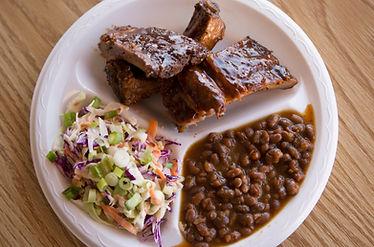 BBQ Ribs plate