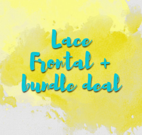 Lace frontal closure + Bundle deals