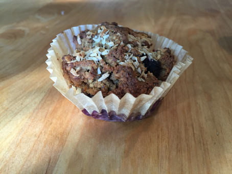 Breakfast! Paleo blueberry muffins