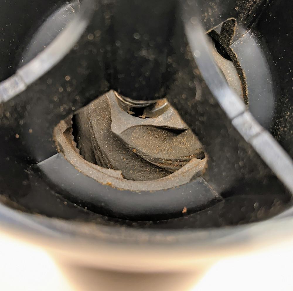 Burr grinder - inside view