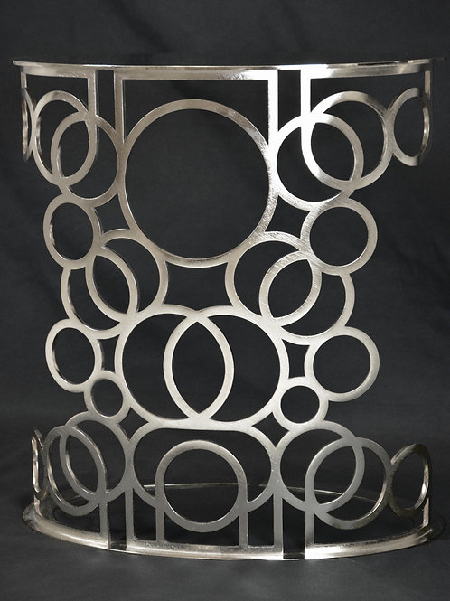 Armonía Side Table - Silver Vibration Finish