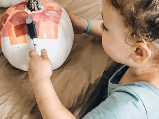 stylish pumpkin toddler craft