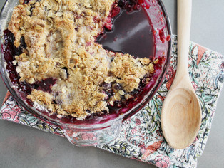 7 ingredient berry cobbler (pro-tip: hide from yourself after baking)