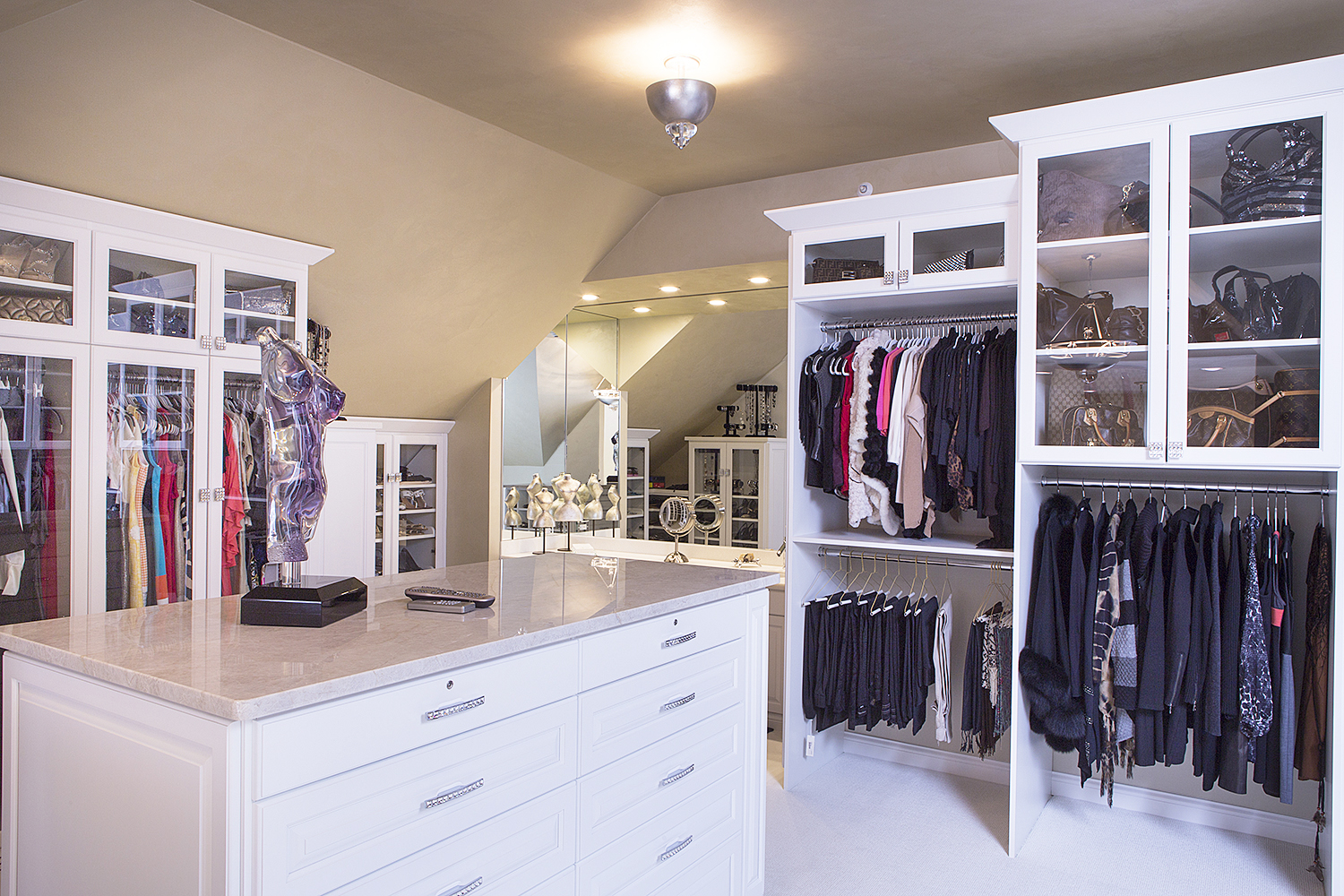 Custom Closet with angles