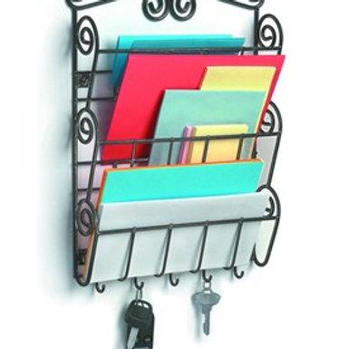 Mail Holder with Key Hooks