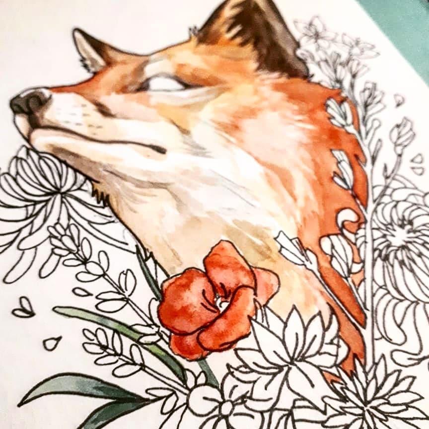 Renard fleuri