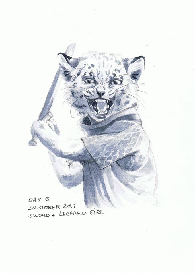 sword + leopard girl
