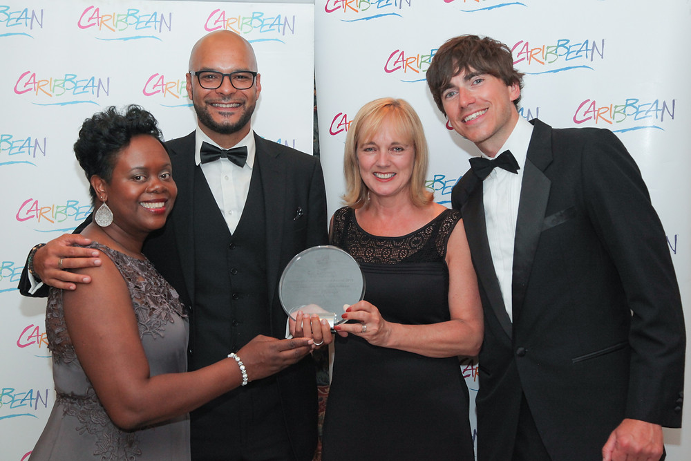 Picture Caption:  (Left to right) Carol Hay, Director of Marketing UK and Europe - Caribbean Tourism Organisation Darrin Des Vignes, Account Manager - AMG Ltd – UK representatives for Trinidad and Tobago  Nadine Rankin, Managing Director – AMG Ltd - UK representatives for Trinidad and Tobago Simon Reeve - Author and TV Presenter
