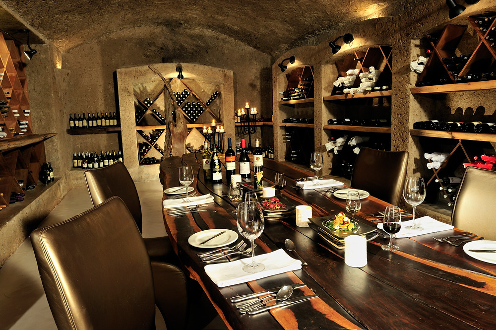 Sabi Sabi Earth Lodge wine cellar