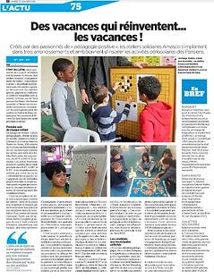 Article du Parisien mardi 21 janvier 202