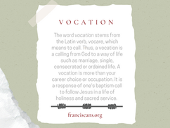 Religious Word Wednesday: Vocation