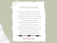 Religious Word Wednesday: Vocation