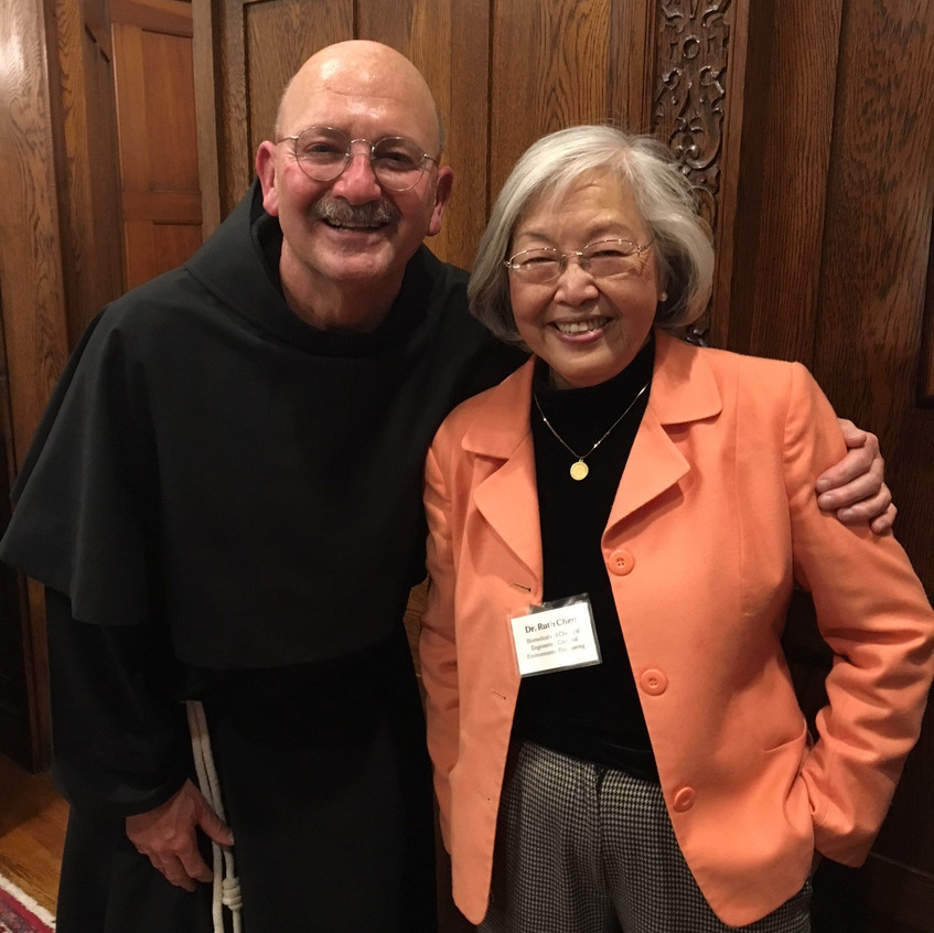 Dr. Ruth Chen and Friar Gerry Waterman.