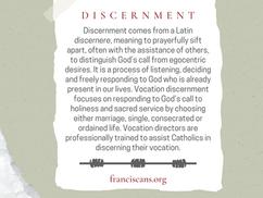 Religious Word Wednesday: Discernment