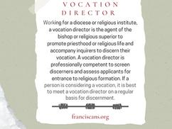 Religious Word Wednesday: Vocation Director