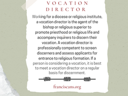 Religious Word Wednesday: Vocation Director