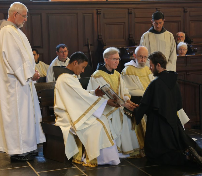 The Simple Vows of Poverty, Chastity and Obedience Professed by friar Jason DeMartini, OFM Conv., accepted by the Minister Provincial of Our Lady of the Angels Province – the Very Reverend Fr. James McCurry, OFM Conv.