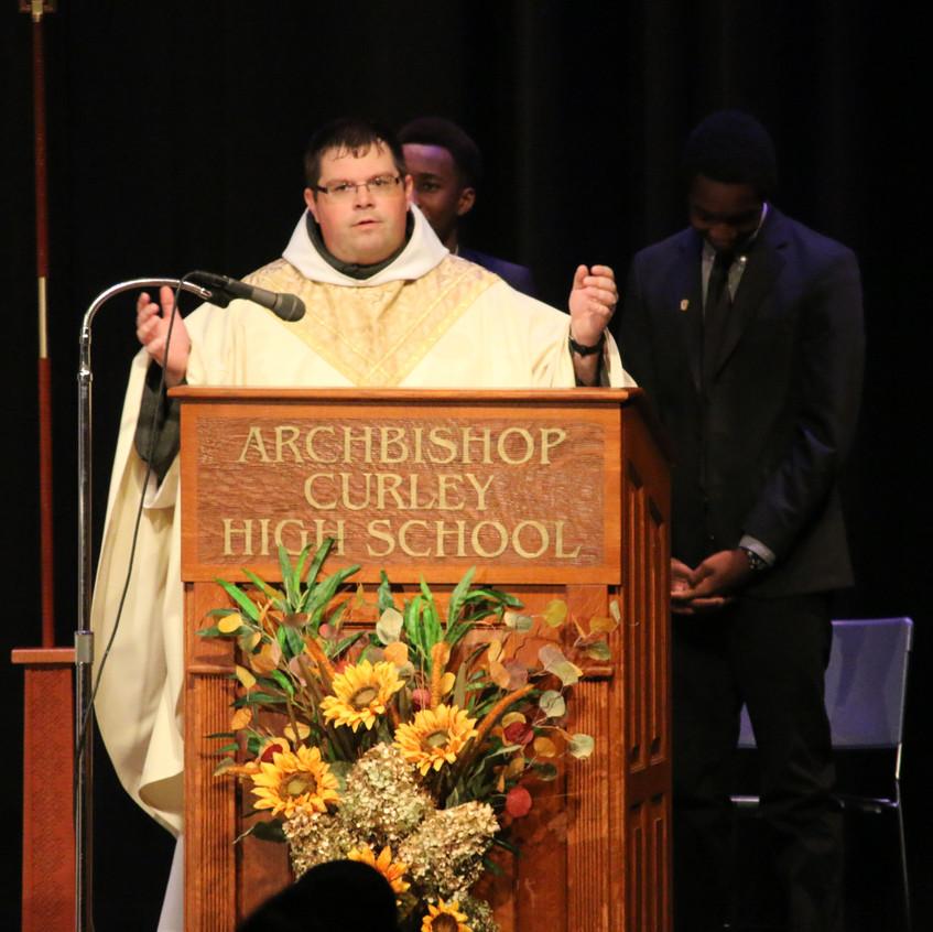 Friar Matt celebrates Mass