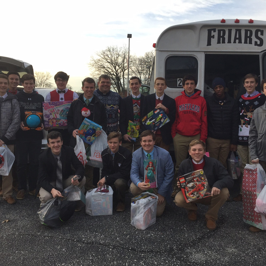 Students collect toys