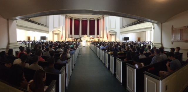 Nearly 1000 students attended Easter Mass.