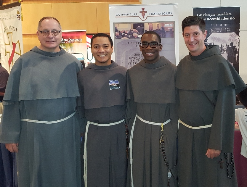 Our Lady of the Angels Province friars: Fr. John Koziol, OFM Conv., Friar Maximilian Avila Pacheco, OFM Conv., friar Franck Lino Sokpolie, OFM Conv., and Fr. Russell Governale, OFM Conv.