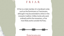 Religious Word Wednesday: Friar