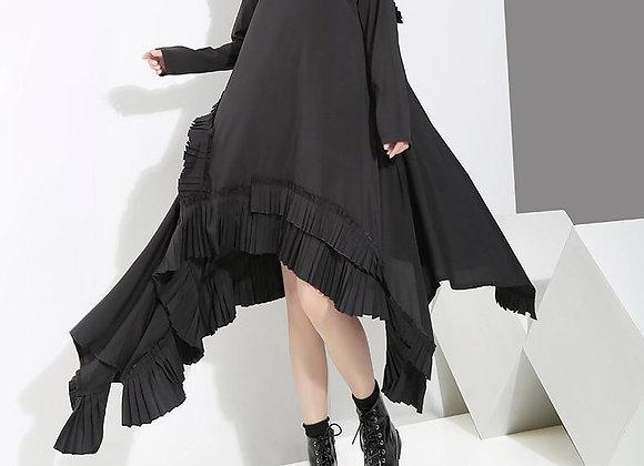 Ruffle Split Dress