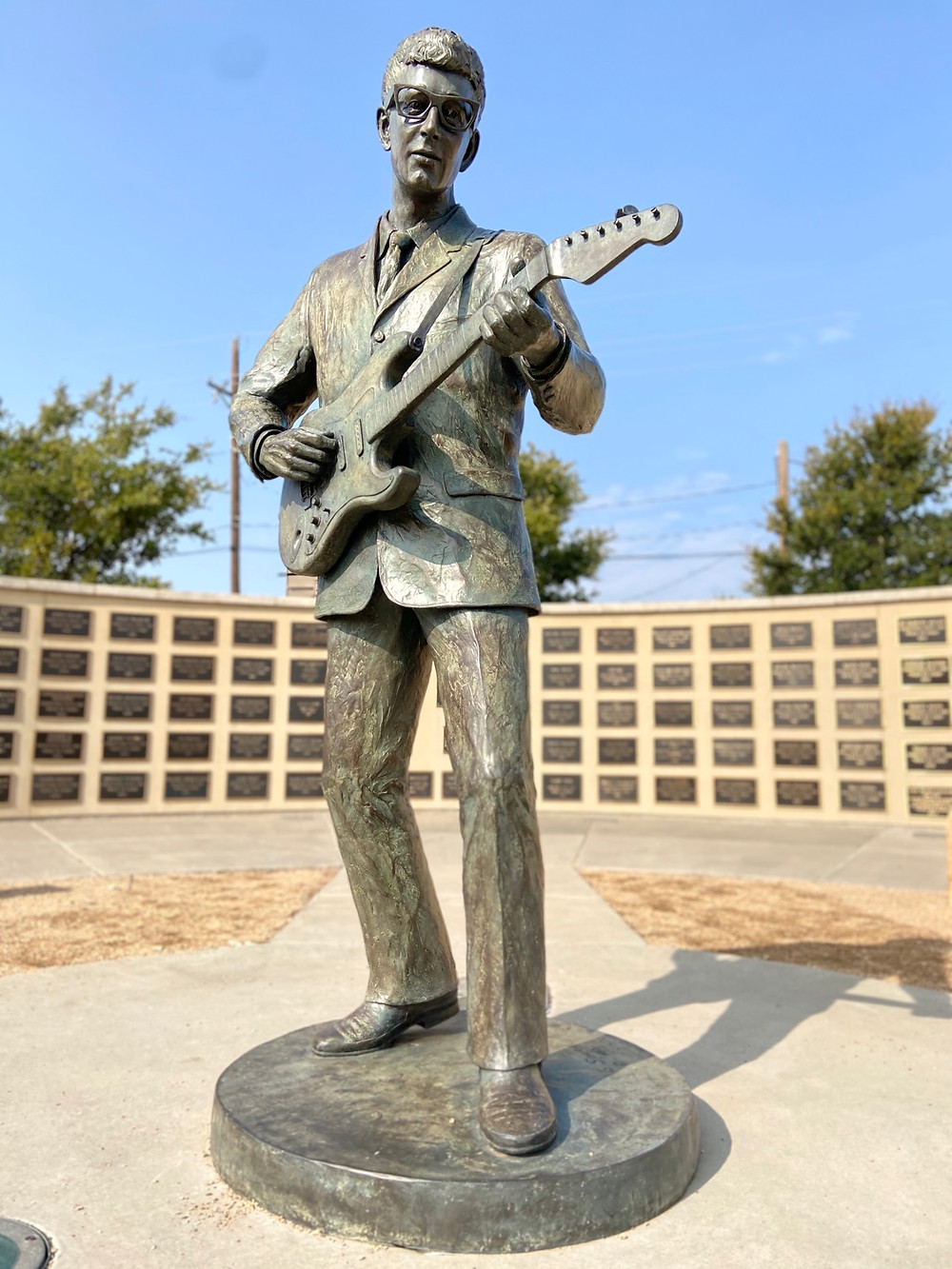 Buddy Holly statue in Lubbock TX