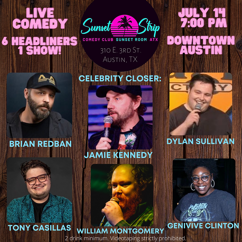 Wednesday, July 14th comedy showcase 7:00pm