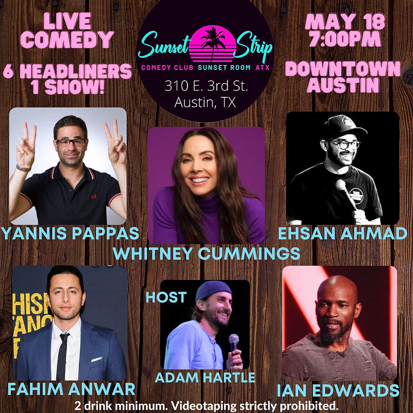 Tuesday, May 18th comedy showcase 7:00pm