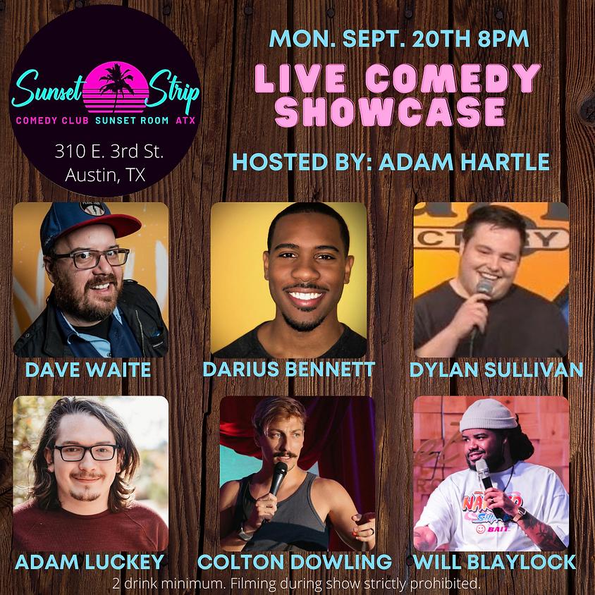 Monday September 20th 8pm Live Comedy Showcase