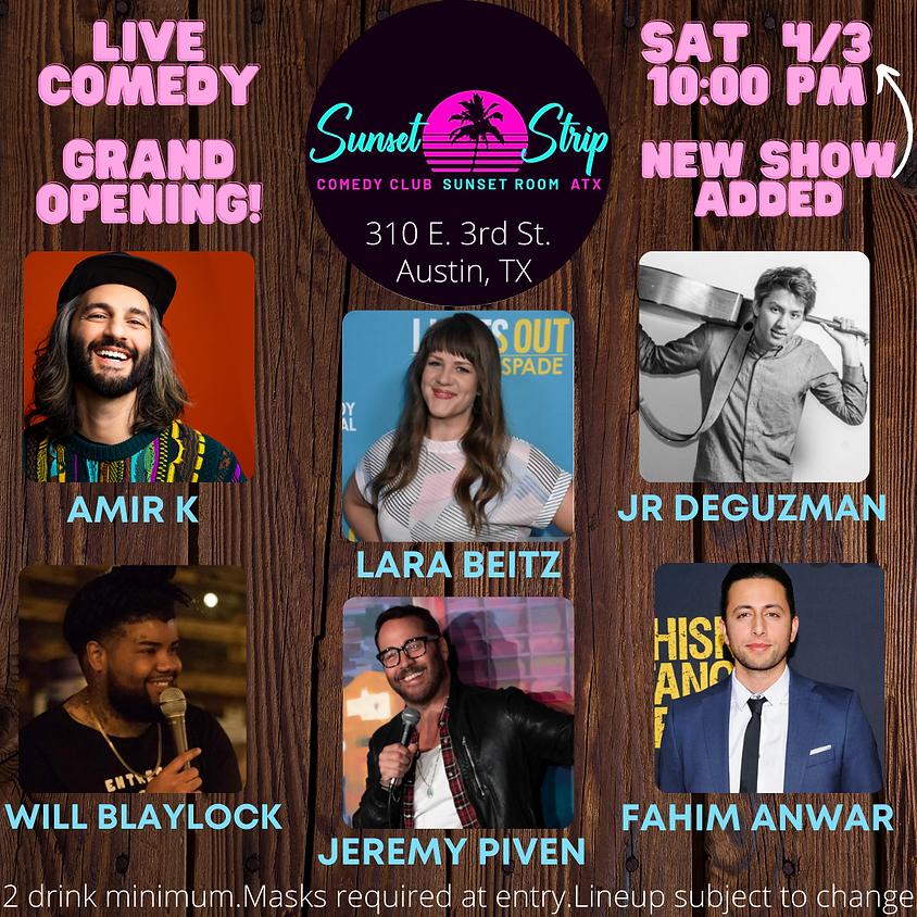 Saturday April 3rd comedy showcase 10:00pm