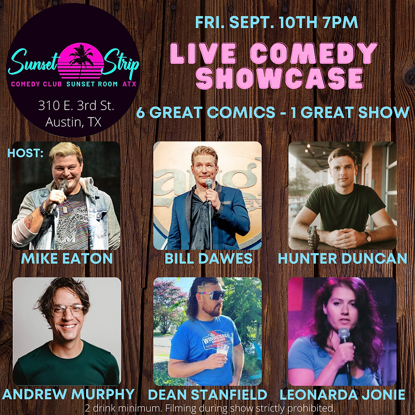 Friday September 10th 7pm Live Comedy Showcase